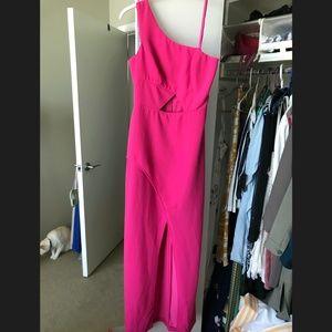 Fuchsia BCBG Gown; Asymmetric